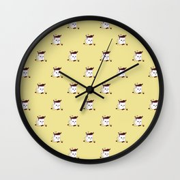 Coffee Mug Addicted To Coffee pattern Wall Clock