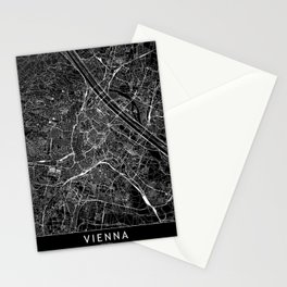 Vienna Black Map Stationery Cards
