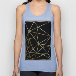 In Gold Triangles. Art Deco. Unisex Tank Top