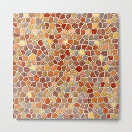 Fall Colors Mosaic Pattern - light Metal Print