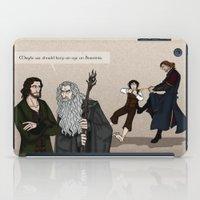 aragorn iPad Cases featuring Sneaking Suspicion by wolfanita