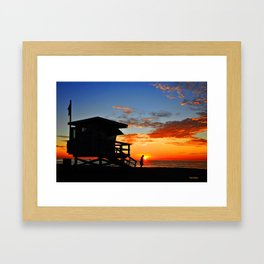 Lone Lifeguard Framed Art Print