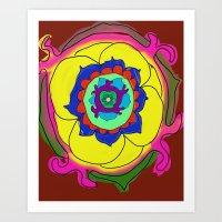 henna Art Prints featuring Henna by Samantha Bowie