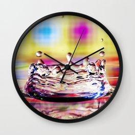 Water Crown Wall Clock