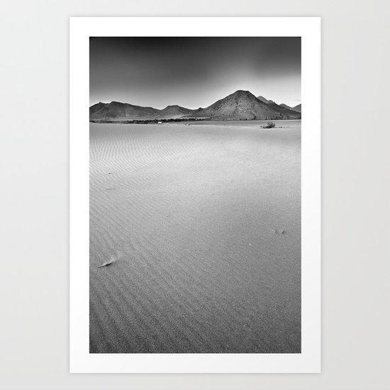 Volcanoes and sand Art Print