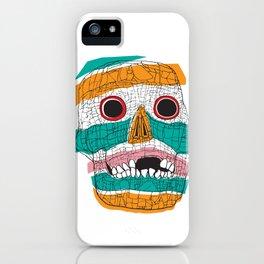 Stripy Skull  iPhone Case
