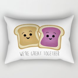 We're Great Together - Peanut Butter & Jelly Rectangular Pillow