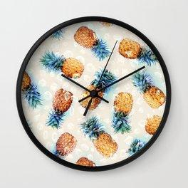 Pineapples + Crystals  Wall Clock