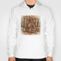 drunk Hoodies featuring Drunk Sloth by Brian Coldrick