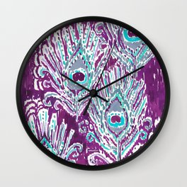 PEACOCKY - PLUM Wall Clock