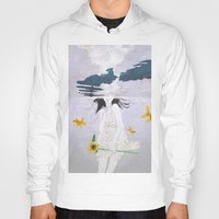 planet Hoodies featuring water planet by SEVENTRAPS
