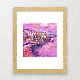 Cliffs of Moher en rose Framed Art Print