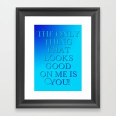 Touch me #4 - Towels & more Framed Art Print