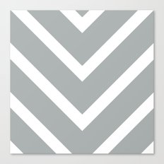 v lines wide - gray and white Canvas Print
