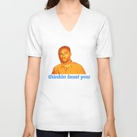channel V-neck T-shirts featuring Channel Orange by Grace Teaney Art