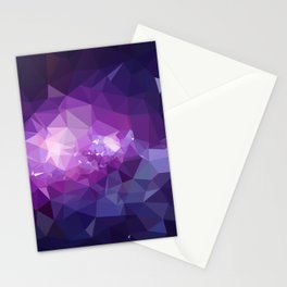 Purple galaxy 2 low poly Stationery Cards