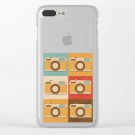 Retro Vintage Camera Gift Hipster Photography Gift Clear iPhone Case