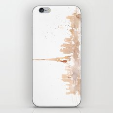 Watercolor landscape illustration_Paris iPhone & iPod Skin