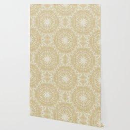 Peaceful kaleidoscope in beige Wallpaper