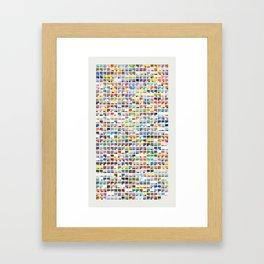 Complete Poke-Pantone  Framed Art Print