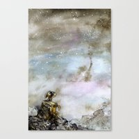 wall e Canvas Prints featuring Wall-e by Louise Summers