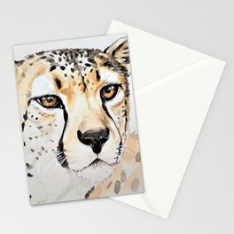 CHEETAH IN WATERCOLOR Stationery Cards