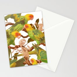 The extinction of the Carolina Parakeet. Stationery Cards