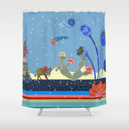 At night Shower Curtain