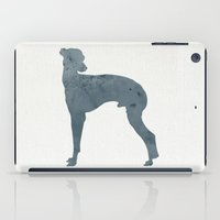 greyhound iPad Cases featuring Greyhound by Three Black Dots