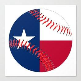 Texas Flag Baseball Canvas Print