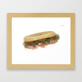 Deli Sandwich Framed Art Print