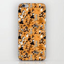 Monster March (Orange) iPhone Skin