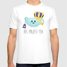 His Majest-tea Mens Fitted Tee MEDIUM White
