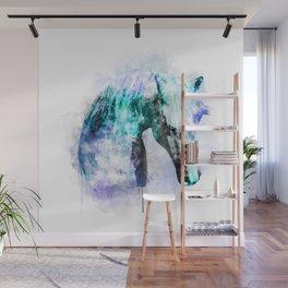 Horse Watercolor, Horse Print, Watercolor Print, Watercolor Animal, Horse Painting, Horse Gift Print Wall Mural
