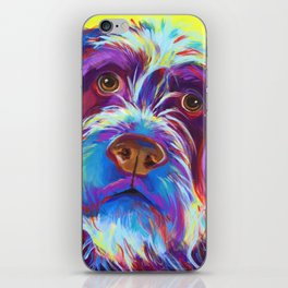 Wirehaired Griffon or Labradoodle iPhone Skin