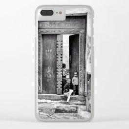 African Kids Playing - Stonetown Zanzibar 3609 Clear iPhone Case