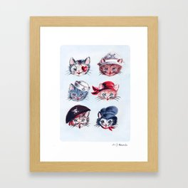 A Paw-rate's Life For Me Framed Art Print