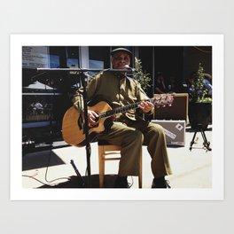 Eddie Cusic, Juke Joint Festival, Clarksdale, Mississippi Art Print