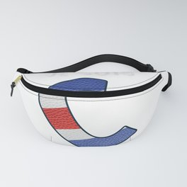 Je suis Charlie trans - Navy Alphabet - Leather Fanny Pack