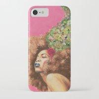 erykah badu iPhone & iPod Cases featuring Baduizm by Alexander Grahovsky