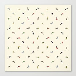 Garden Birds in the Daytime (Fine) Canvas Print