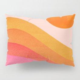 Abstraction_SUNSET_OCEAN_COLOR_POP_ART_Minimalism_009D Pillow Sham