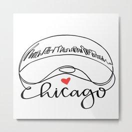 """Chicago Cloud Gate """"Bean"""" Metal Print"""
