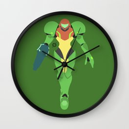 Samus(Smash)Green Suit Wall Clock
