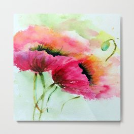 Beautiful Poppy Metal Print