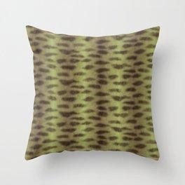 Tiger Shark Skin (Green) Throw Pillow