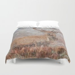 Majestic Stag Watercolor Duvet Cover