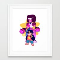 johannathemad Framed Art Prints featuring steven and his stand by JohannaTheMad