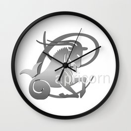 Capricorn the Goat - Zodiac Sign Wall Clock
