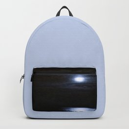Moon Over Lake Michigan Backpack